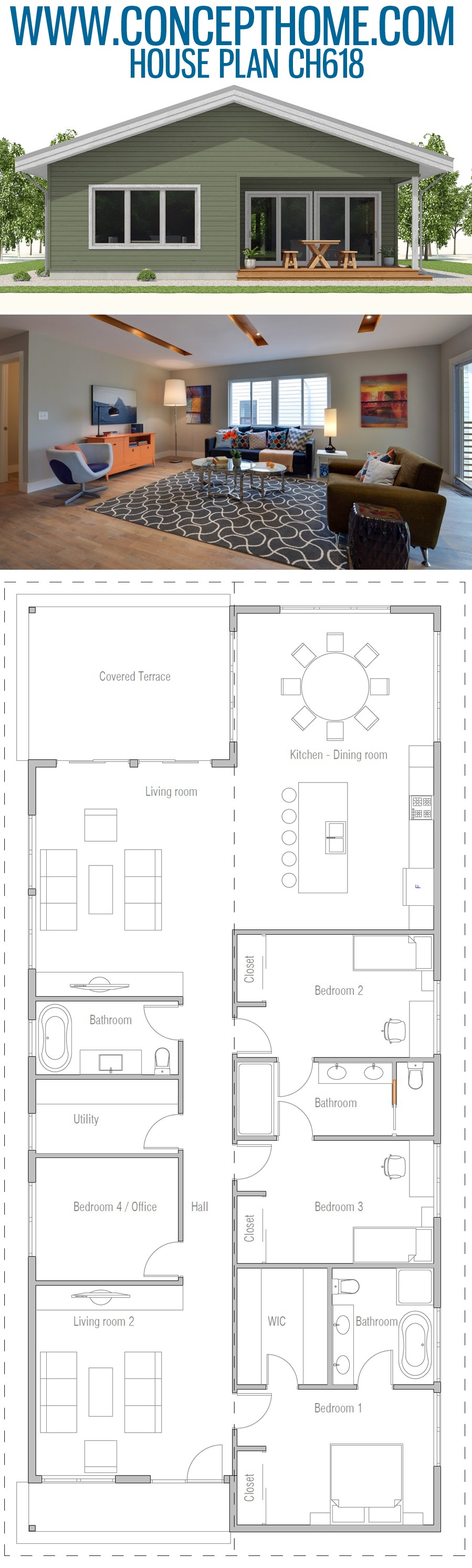 House Plan Ch618 Sims House Plans House Layouts House Layout Plans