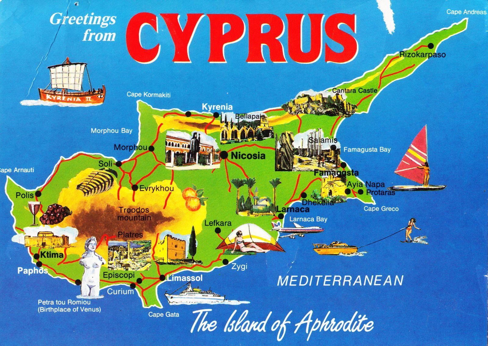 Chypre Carte Touristique.Tourisme A Chypre Une Selection De Sites Touristiques