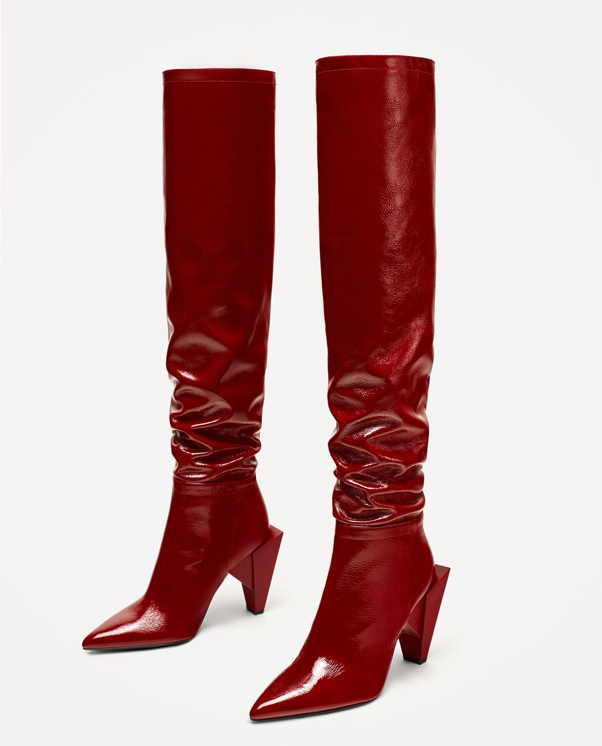 gamme exceptionnelle de styles et de couleurs vente discount baskets BOTTES CUIR À TALONS VERNIS | Love shoes | Bottes cuir ...