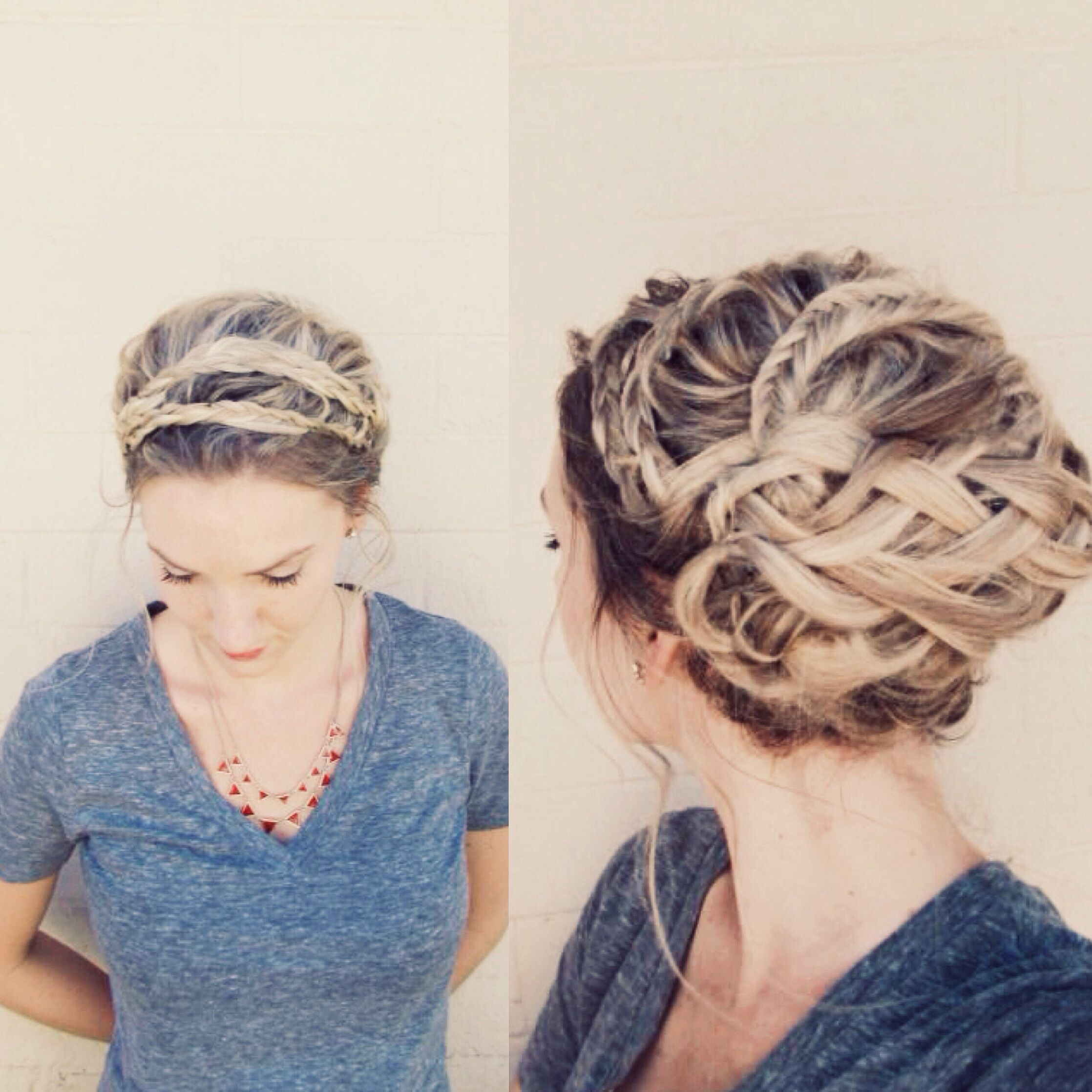 Fancy Updo Front And Back View Anniesforgetmeknots Pinterest