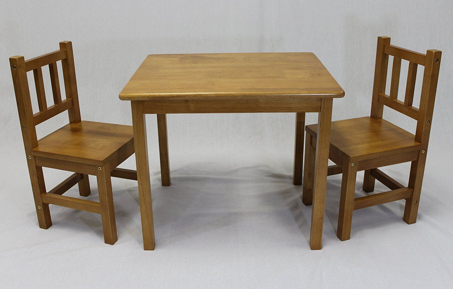 Kids Wooden Table And Chairs Amazon Com Ehemco Kids Table And 2 Chairs Set Solid Hard Medczye Kids Table And Chairs Table And Chair Sets Pub Table Sets