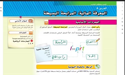 حل درس المعرفة المالية المرابحة البسيطة رياضيات الصف السابع الفصل الأول نتعلم ببساطة Boarding Pass Airline