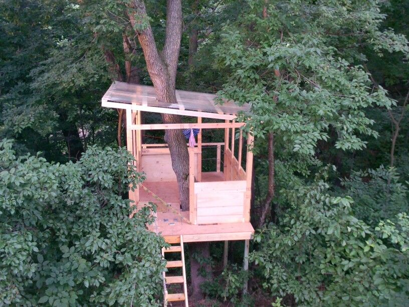Corrugated Roof Tree House Kids Tree House Corrugated Roofing