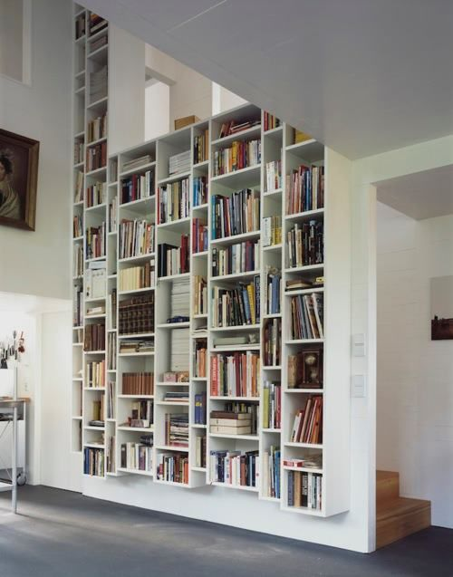the best looking shelving is almost invariably white and