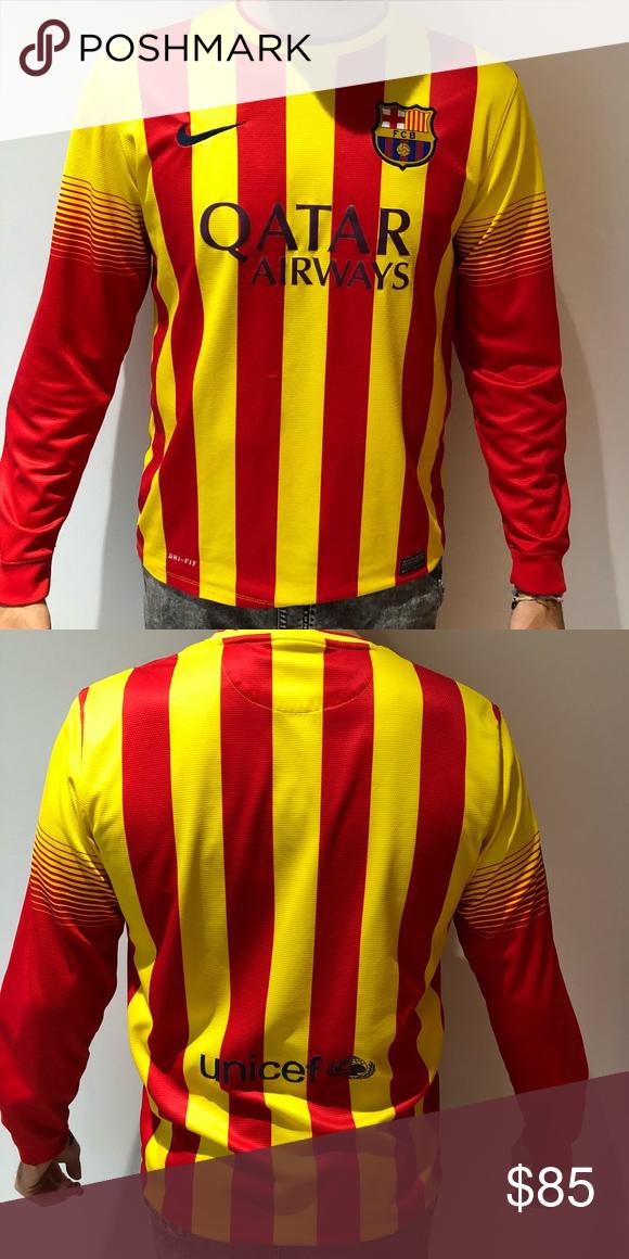 purchase cheap 5226d e273e FC BARCELONA NIKE DRY FIT LONG SLEEVE WORKOUT FC BARCELONA ...