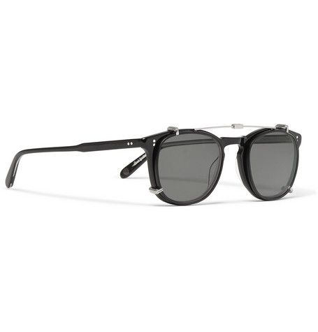 5d48b2d6c3 These  Kinney  optical glasses blend key details from Garrett Leight  California Optical s signature  Rialto  and  Brooks  styles. Handcrafted  from black ...