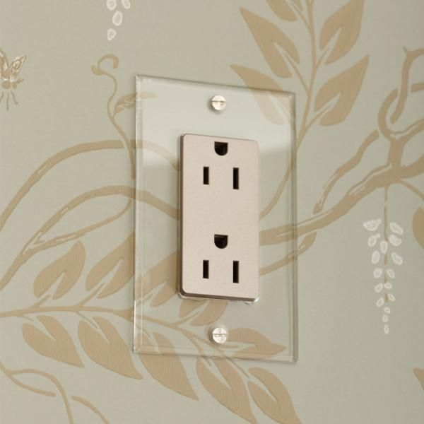 Invisible Outlet With Oyster Insert Light Switch Light Switches