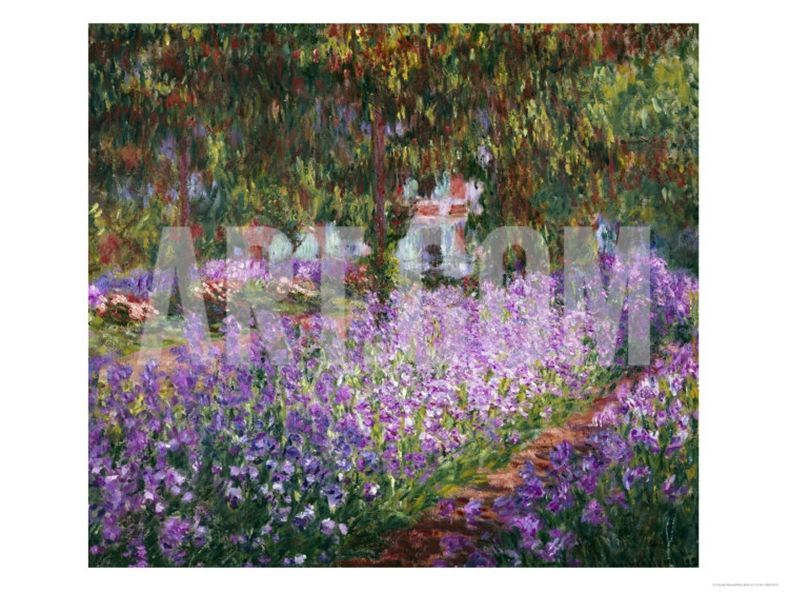 the artist's garden at giverny print