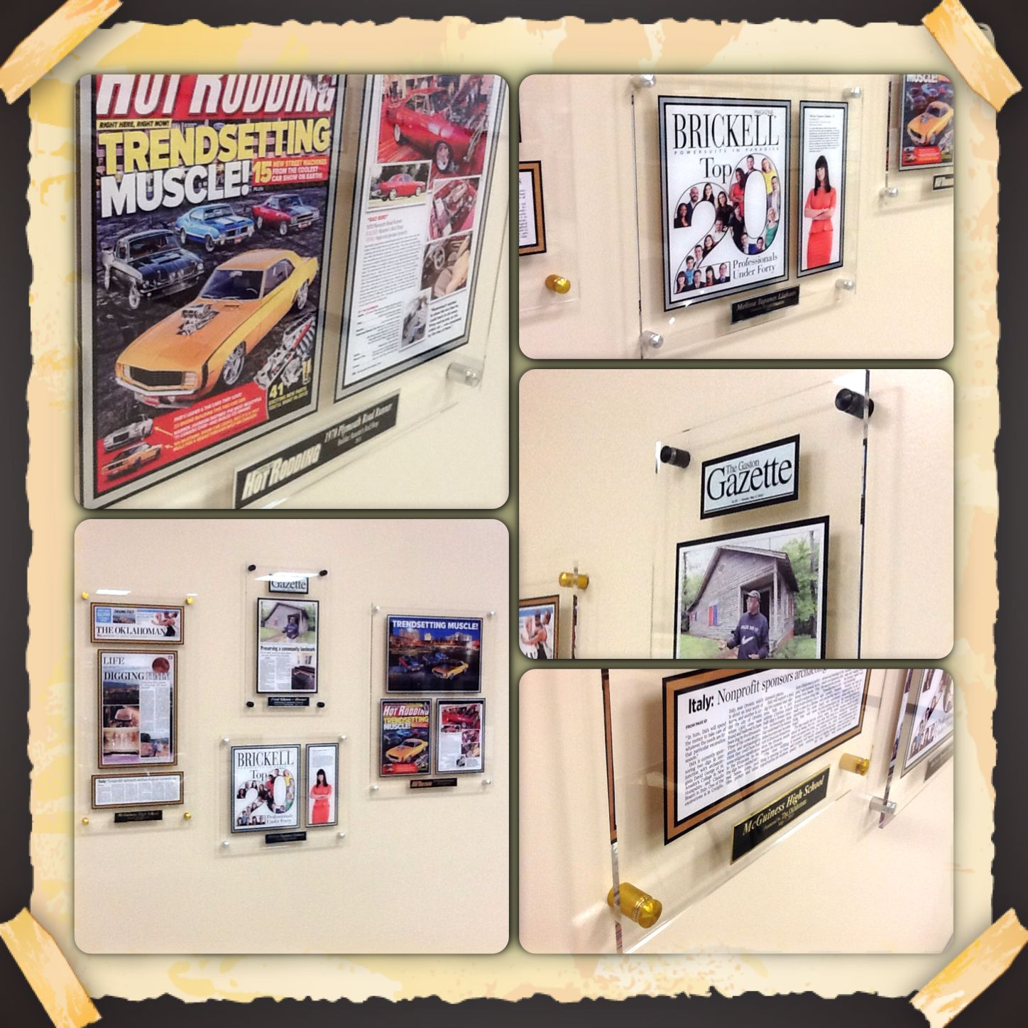 Collage of new line framed acrylic plaques. New modern and awesome ...