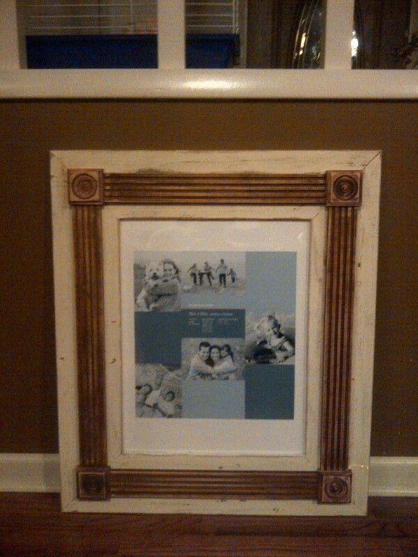 Pallet wood picture frame with reclaimed fluted molding ...
