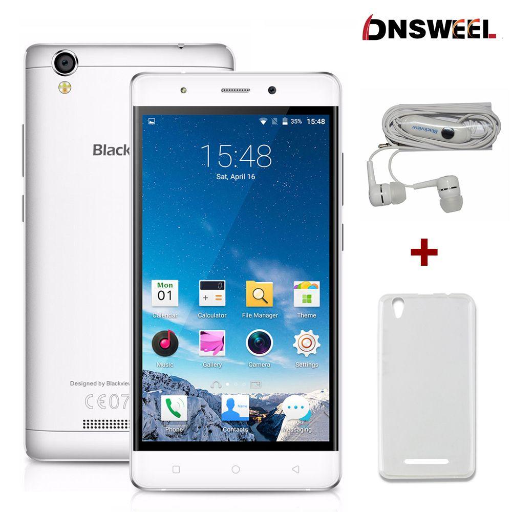 원래 blackview a8 휴대 전화 mtk6580 쿼드 코어 5.0 인치 ips HD 화면 5.1 스마트 폰 안드로이드 1 기가바이트 RAM 8 기가바이트 8MP 3 그램 휴대 전화