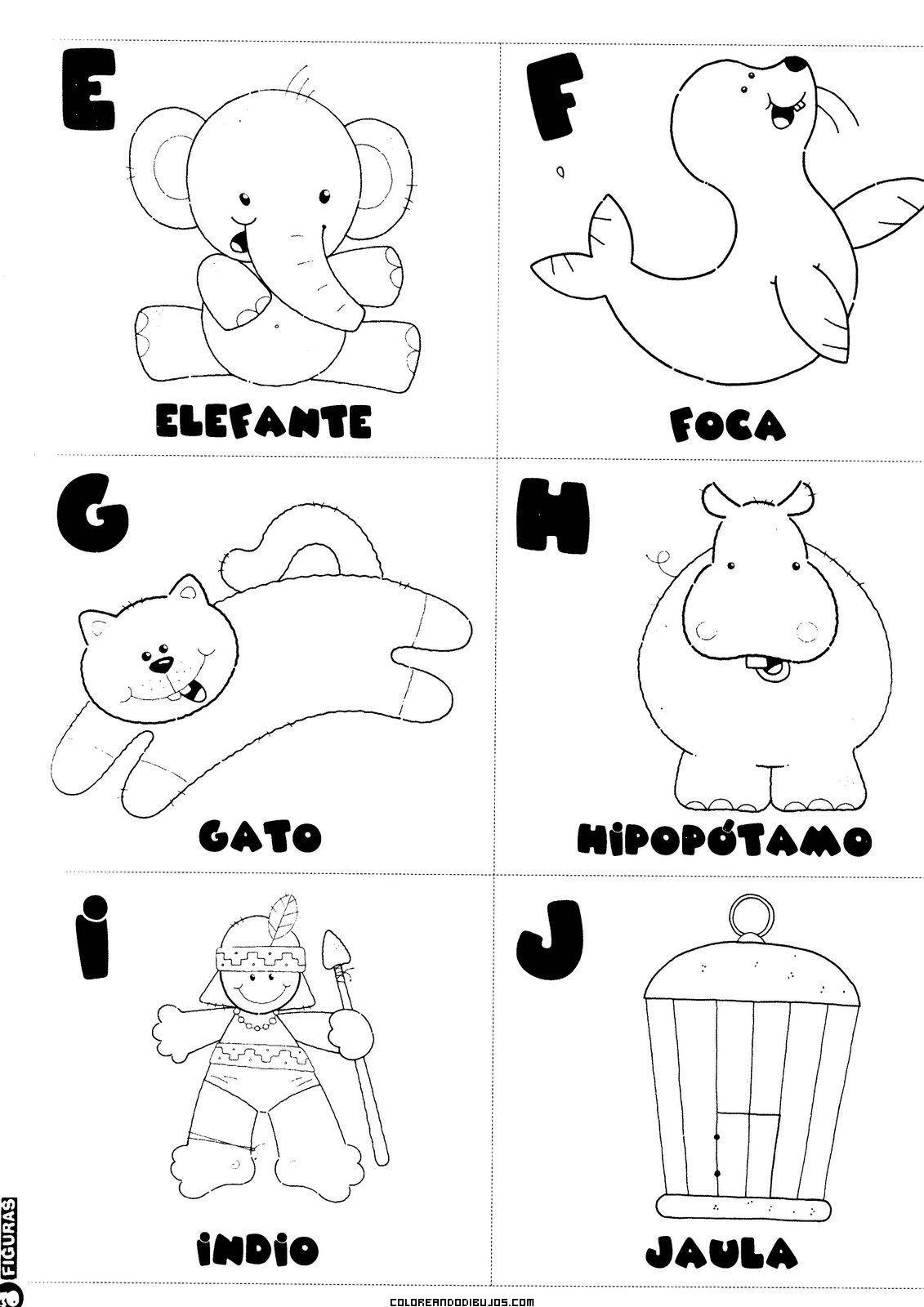 Letras E F G H I J Para Colorear Escuela Lectura Y