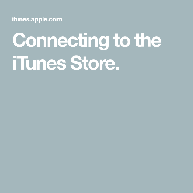 Connecting to the iTunes Store. Itunes, Free radio