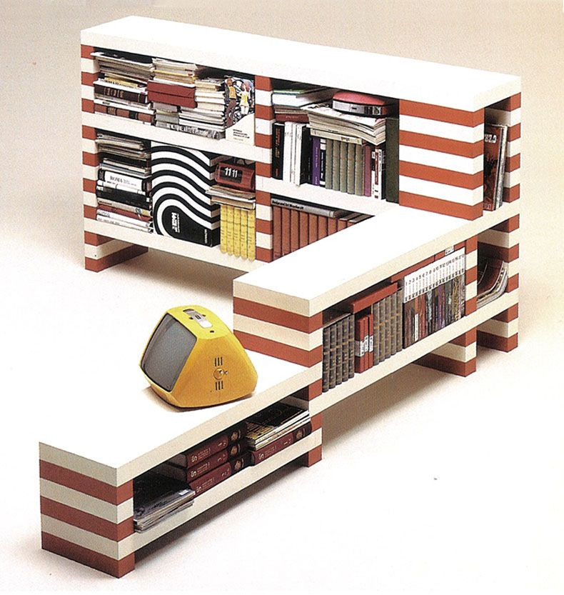 70u0027s Striped Brick Bookshelves   Improvised Life. Shelving UnitsModular ...