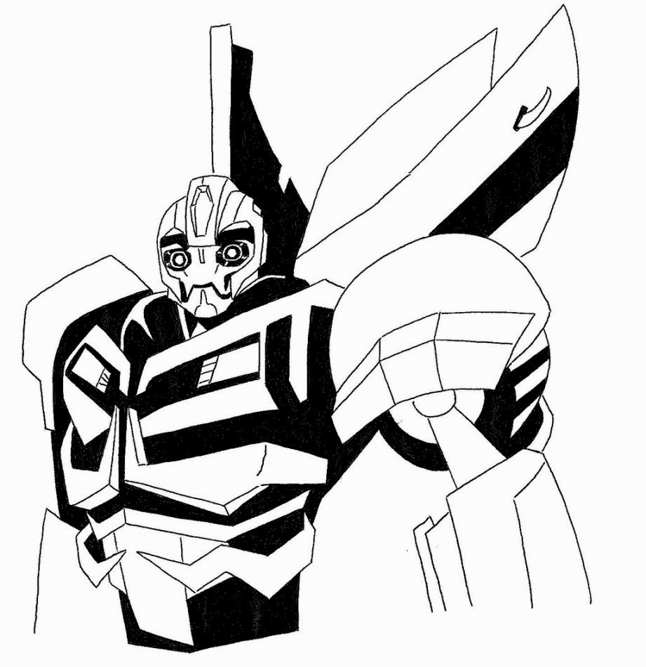 Bumblebee Transformer Coloring Pages Coloring Pages Pinterest