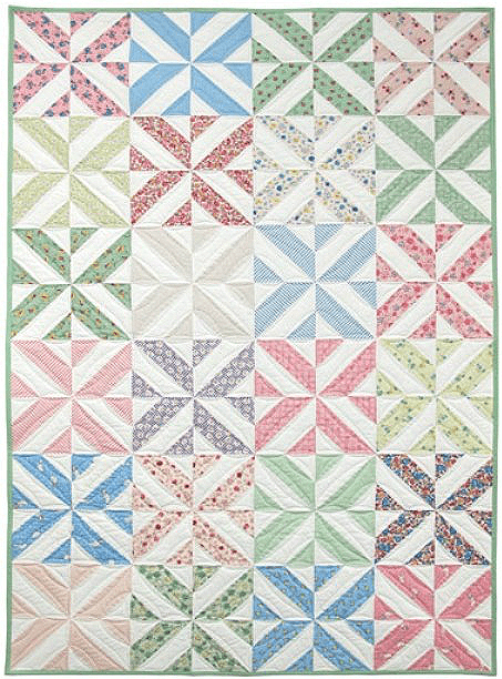 Easily adjust the size of this charming quilt spring shower spring showers quilt pattern fandeluxe Image collections