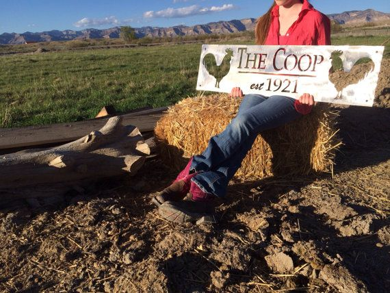 Chicken Coop Sign Custom by LowBarrelCreation on Etsy