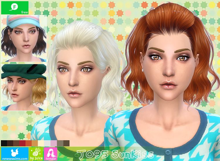 Newsea J095 Sunkiss Wavy Bob Hairstyle Sims 4 Hairstyles