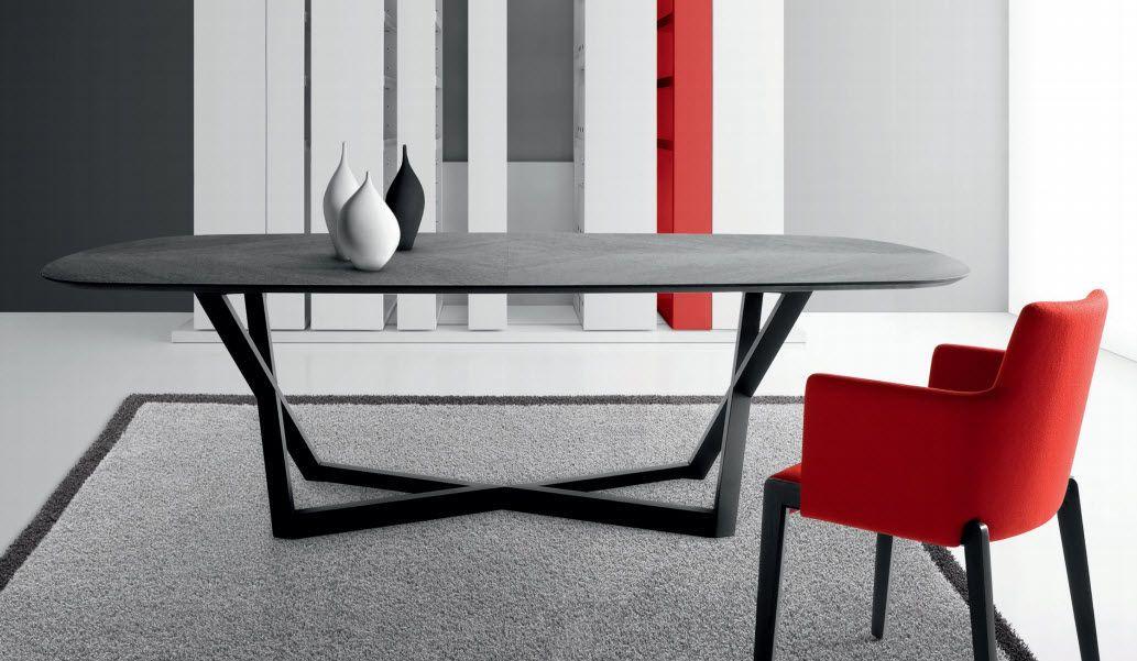 Tavolo Ovale Cristallo : Tavolo moderno in quercia vetro ...