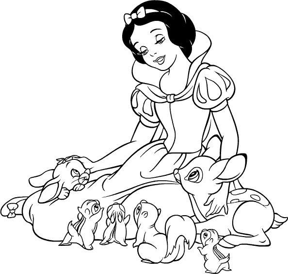 Princesas Disney Dibujos Para Colorear De Blancanieves Y