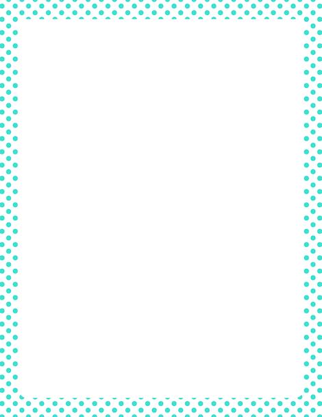 Printable turquoise polka dot border Free GIF JPG PDF and PNG