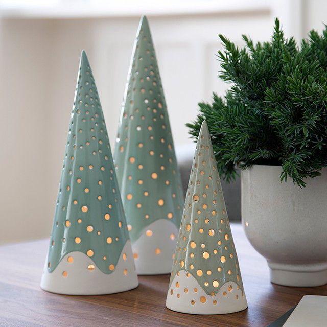 Resultado de imagen para arboles de navidad de ceramica