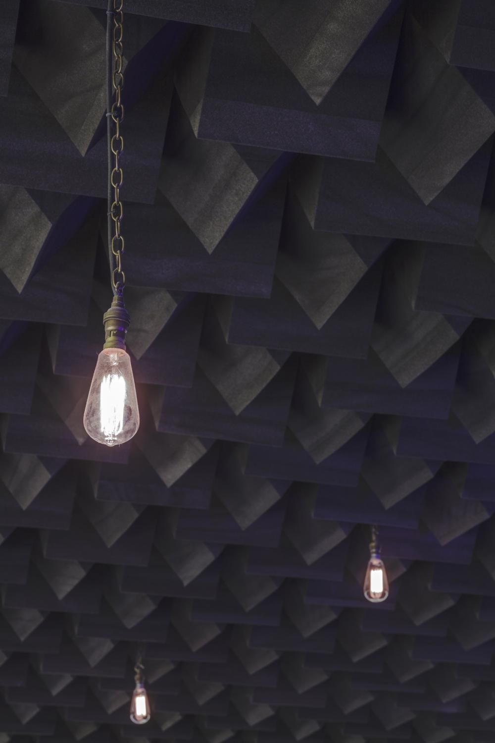 Acoustic ceiling treatment for Jump Studios.
