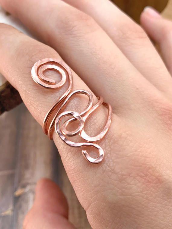 Copper Wire Ring, Wire Wrapped Ring, Copper Jewelry, Wire Wrapped ...