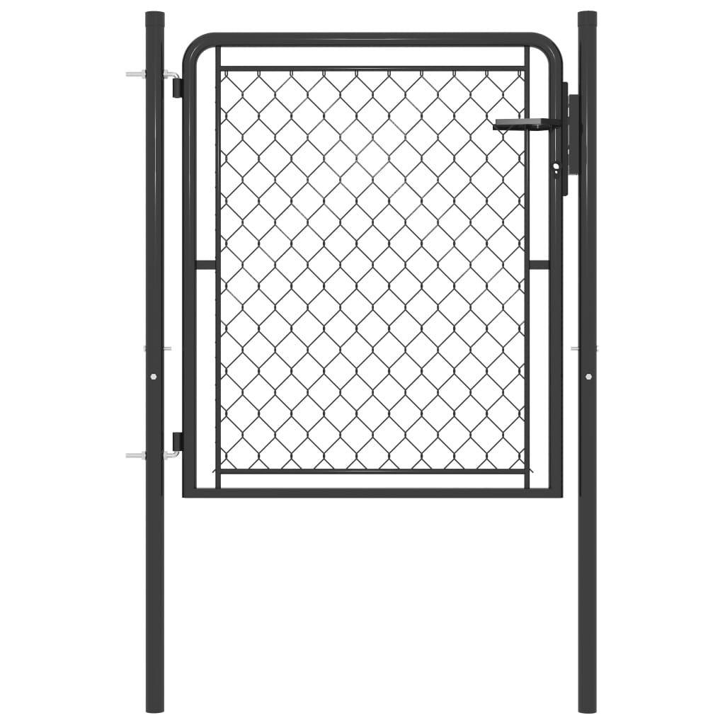 vidaXL Anthraki Garden Fence Door 100 x 75 cm. Steel