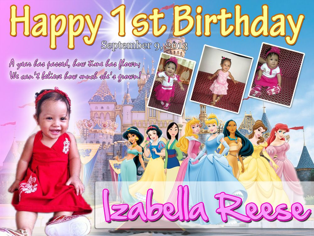 Disney Princess Birthday Tarpaulin Design Cakepins Com Birthday