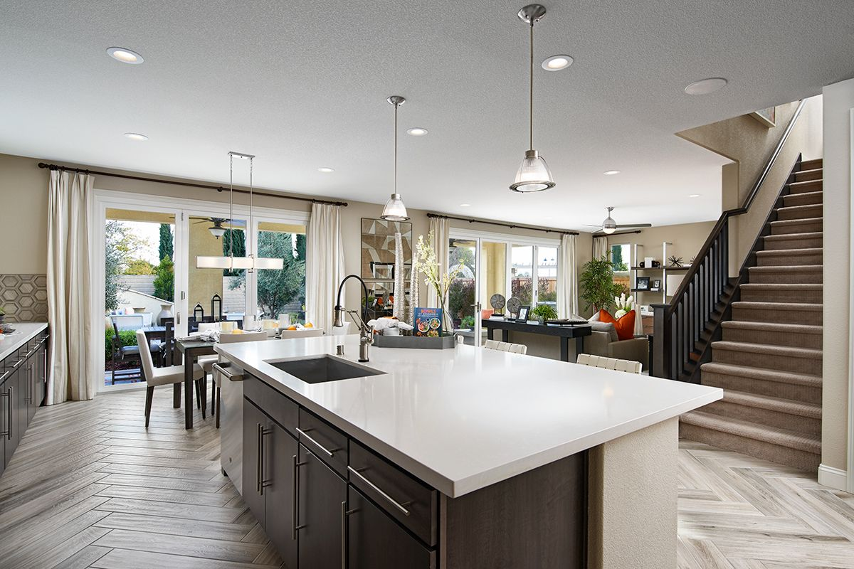 Wide Center Island With Sink Stacey Model Home Kitchen Stockton California Richmond American H Home Kitchens Richmond American Homes New Kitchen Designs