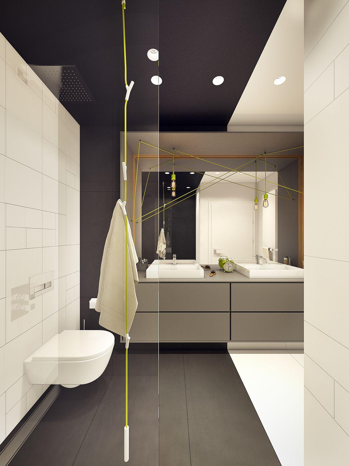 Moderne Zwei Zimmer Wohnung   Pinterest   Washroom