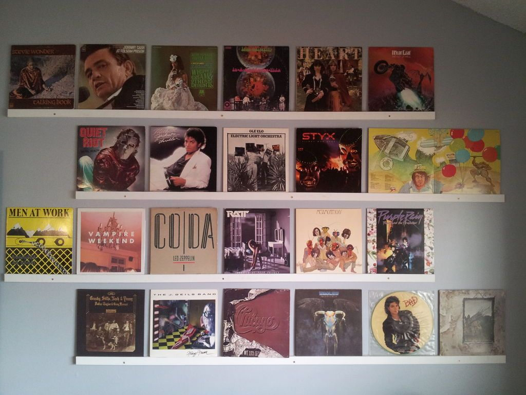 hang up your old vinyl records record wall record