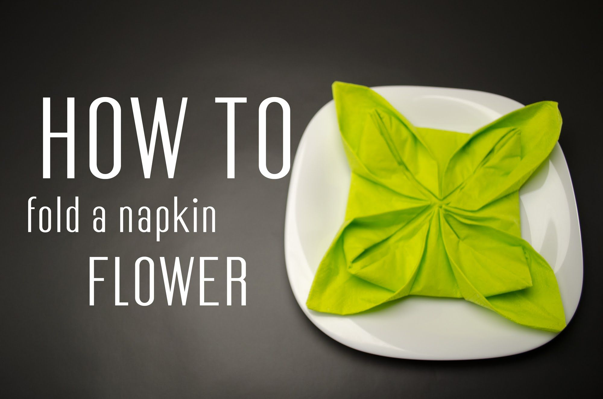 Learn How To Fold A Napkin Into A Flower From A Paper Napkin You