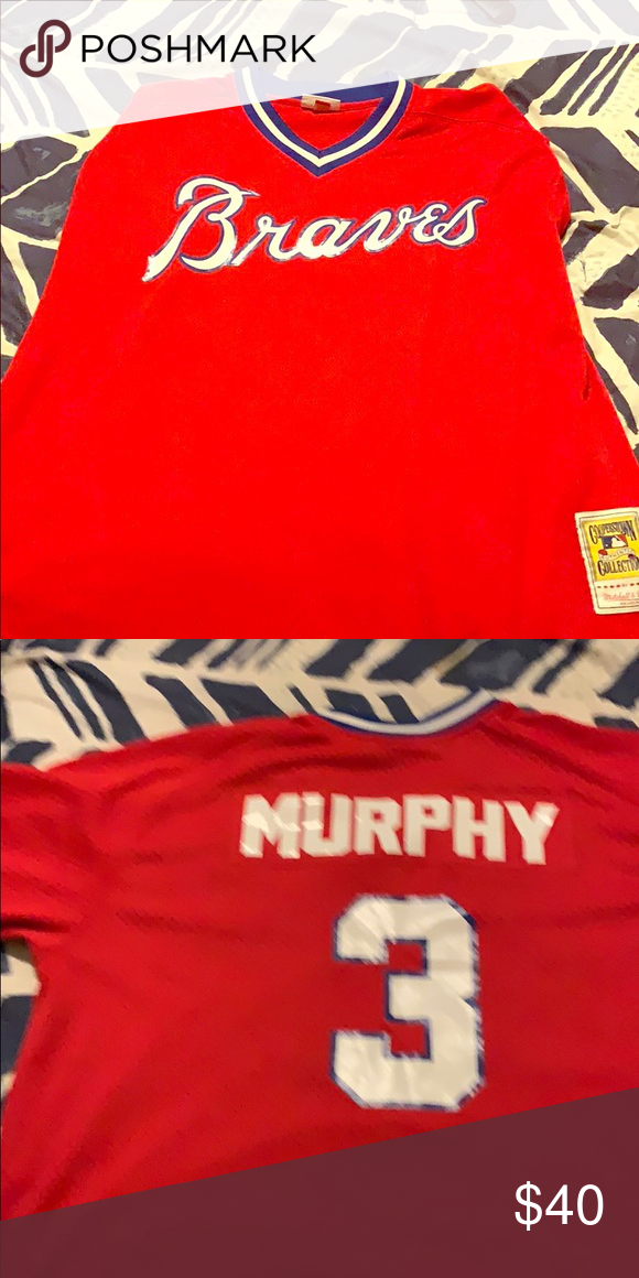 Dale Murphy Mitchell and Ness Atlanta Braves Excellent