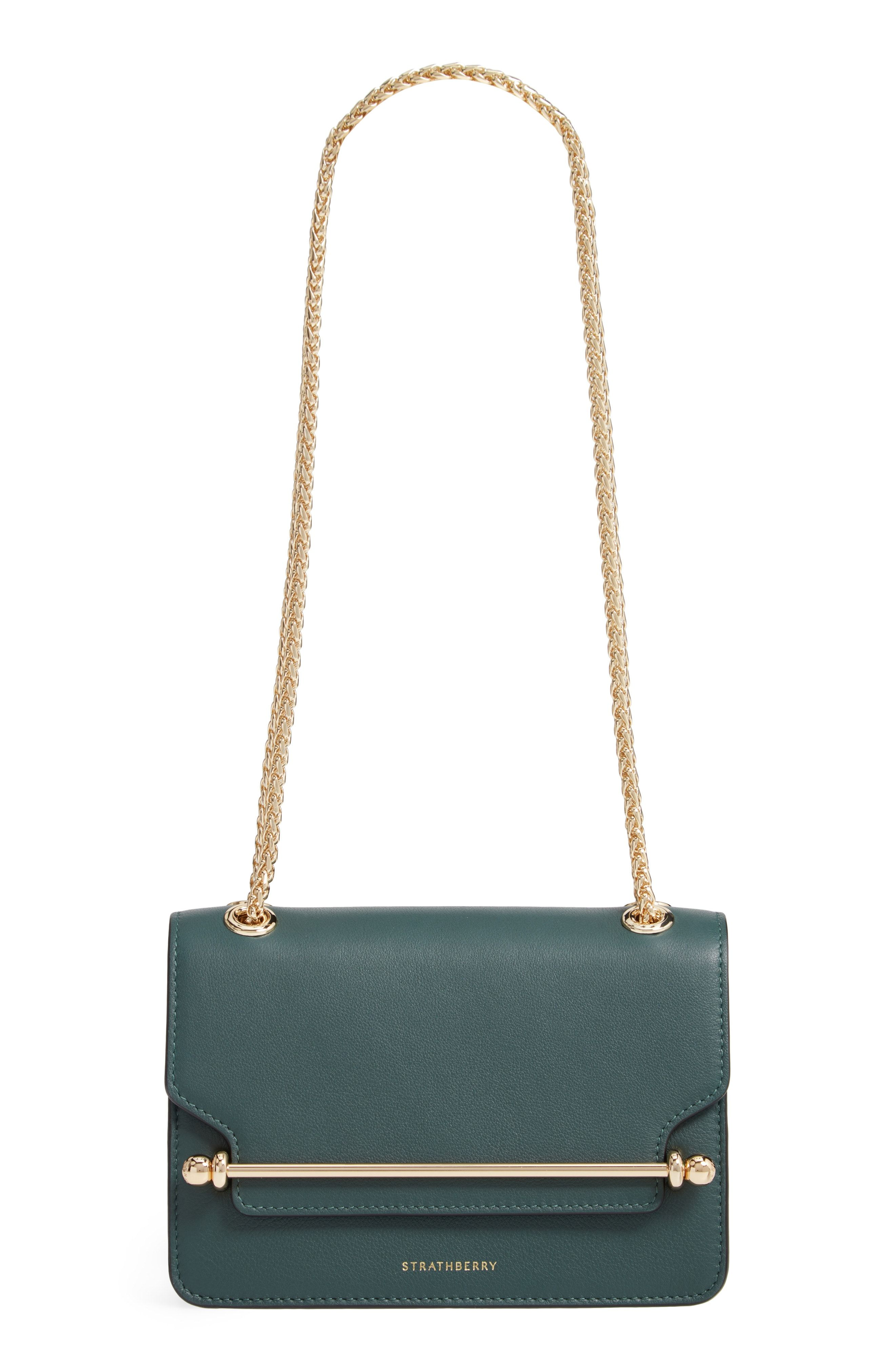 32412a88c3b5 STRATHBERRY MINI EAST WEST LEATHER CROSSBODY BAG - GREEN.  strathberry  bags