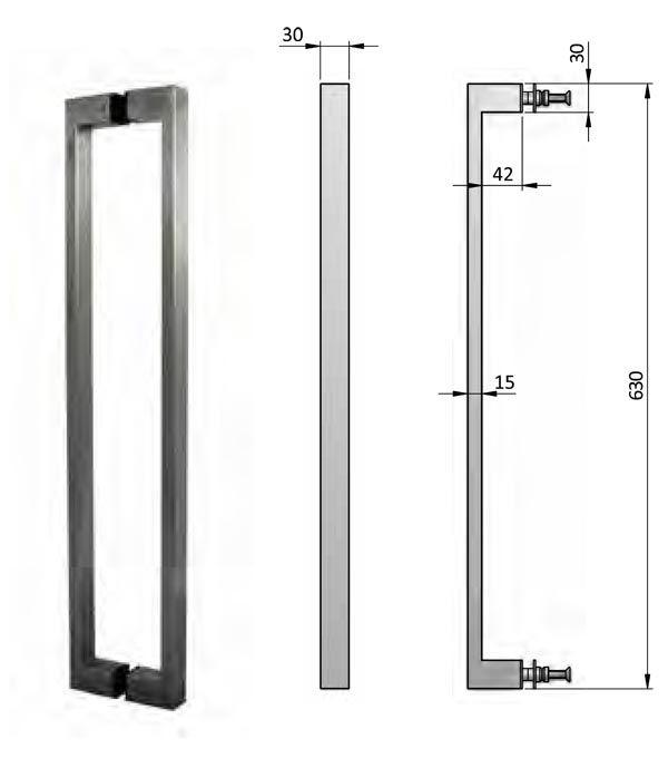 Pull Handle Pair 1000mm Door Pull Handles Pivot Doors