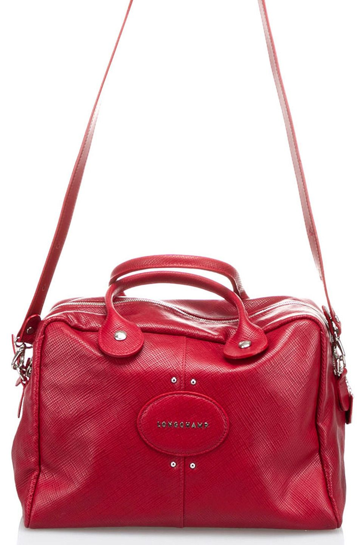Longchamp Quadri Top Handle Bag in Carmine - Beyond the Rack
