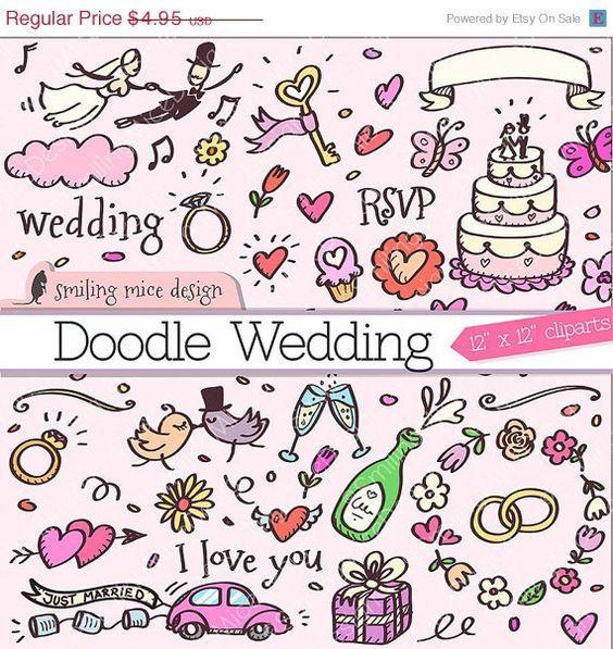 Image result for doodle wedding card
