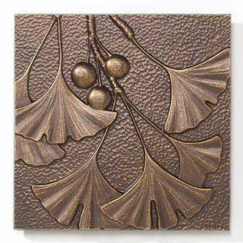 Amazon Com Gingko Leaf Wall Decor Patio Lawn Garden Aluminum Wall Art Art And Craft Design Art Nouveau Tiles