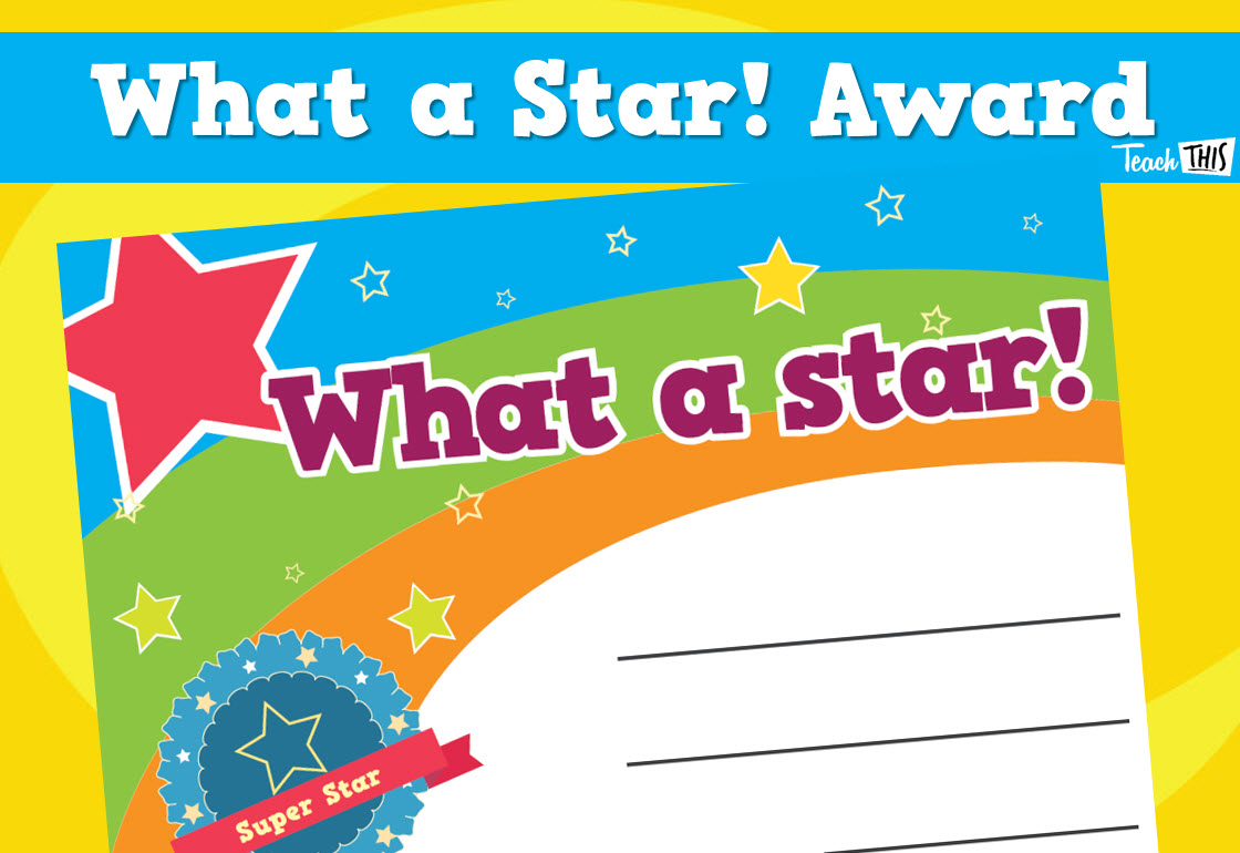 certificate star templates printable student award certificates teachthis