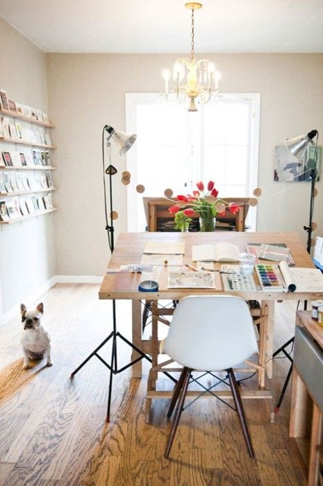 Drafting Table As Desk... #studio #home #office #inspiration #