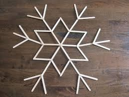 Large Wooden Snowflakes Popcycle Stick Crafts Wooden Snowflakes Craft Stick Crafts