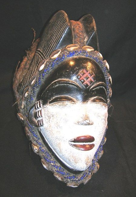 masque africain frontal
