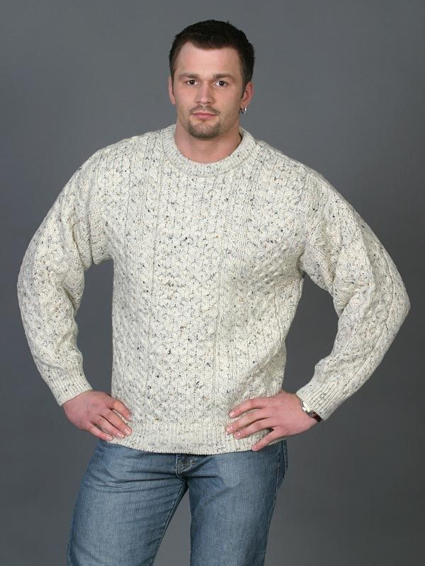 Heavyweight Traditional Aran Sweater w/jeans | Style/Clothing ...