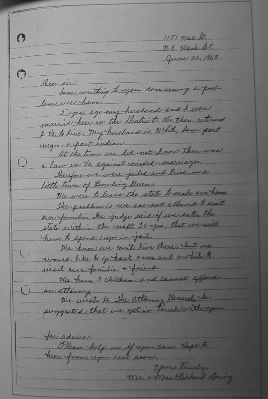 Image result for mildred loving\'s letter to bobby kennedy | love ...