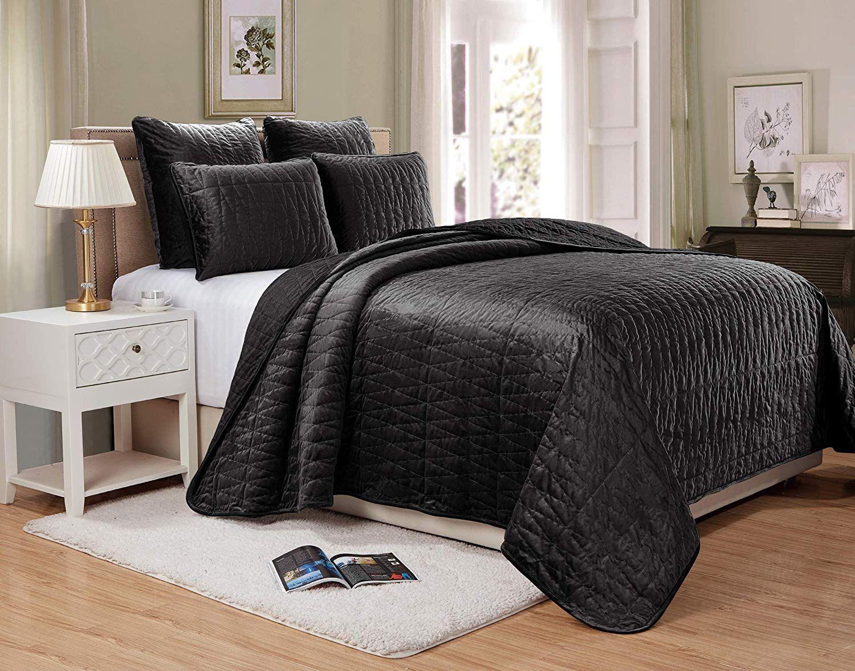 3 Sizes LUXURIOUS Annabel 100/% Microfiber Oversized Coverlet//Bedspread Set