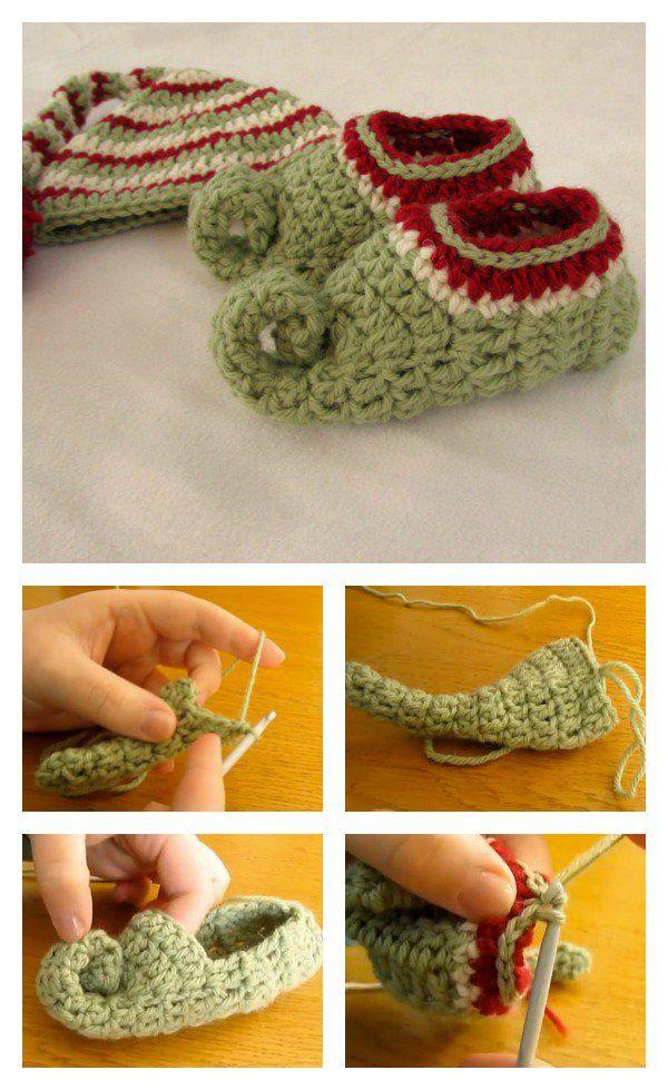 Elf Slippers Free Crochet Patterns Crochet Pinterest Elf