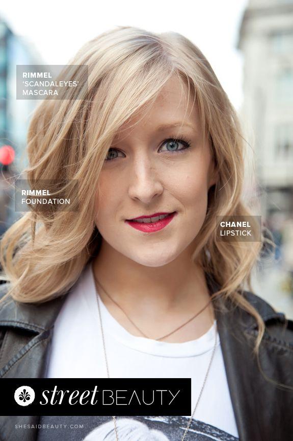 Street Beauty by She Said Beauty  Anna wears Rimmel London Foundation, Rimmel #ScandalEyes mascara, Rimmel powder and Chanel lipstick #makeup #beauty