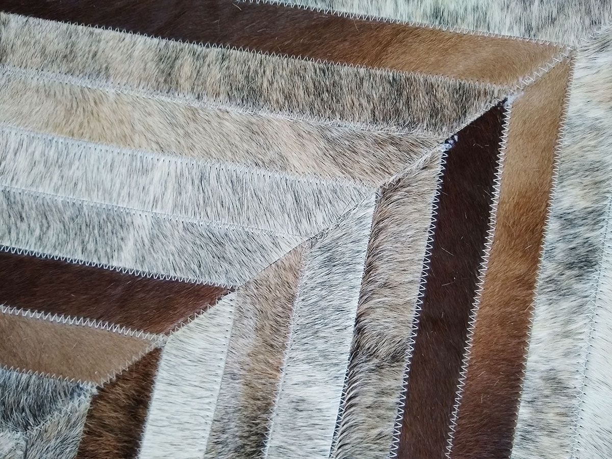 Details Of A Super Special And Custom Brown And Gray Patchork Cowhide Rug We Are Always Attentive To All In 2020 Patchwork Cowhide Patchwork Cowhide Rug Cow Hide Rug